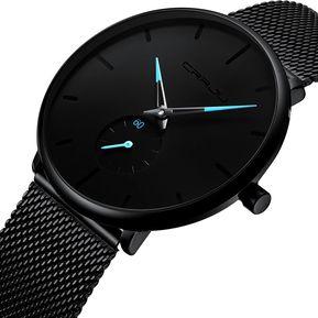 011a4bcbe8bf Reloj deportivo de moda Movimiento cuarzo impermeable de acero unisex