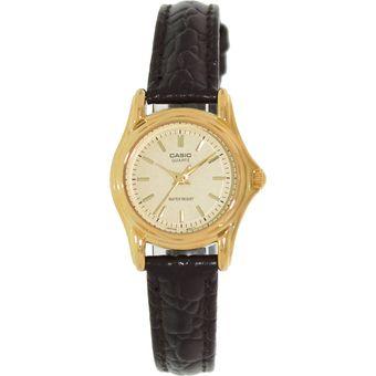 af006a6f79f2 Compra Reloj Casio LTP 1096Q 9A - Cuero café fondo Dorado online ...