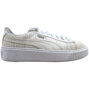 c8cb421b09819 Zapatos de mujer Puma Basket Platform Woven 364847 02 Blanco