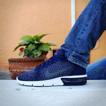 Zapatillas Nike Air Max Sequent 2 Azul Marino y Turquesa