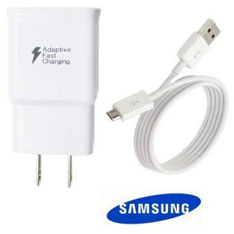 2b2d1edf643 Cargador Samsung Carga Rápida Con Cable Micro Usb S6 Edge S7 Edge Note 4 5