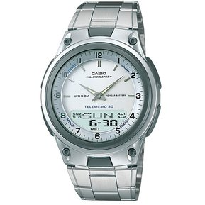 76fe75953f81 Reloj Casio AW80 Acero Inoxidable Cronometro 30 Memorias Luz-Blanco