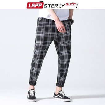 Pantalones De Cuadros Juveniles Para Hombre Ropa De Calle Harajuku Moda Coreana Pantalones Chu Linio Chile Ge018fa02uu6nlacl