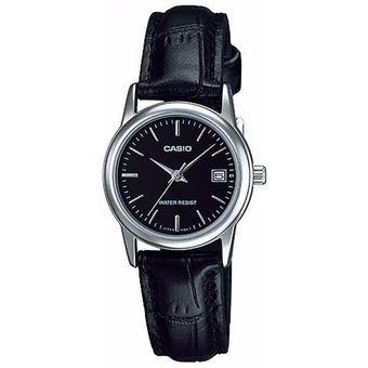 fa843df7e56f Agotado Reloj Casio LTP-V002L-1B Para Dama En Cuero Elegante Analogico Negro