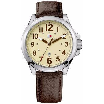 7cb5f7830d3f Compra Reloj Tommy Hilfiger TH-1710298 – Marrón Con Plateado online ...