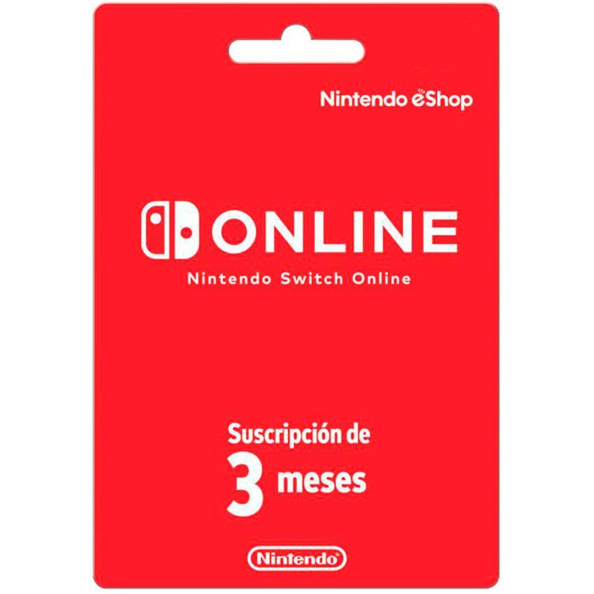 Tarjeta Nintendo Switch eShop 3 Meses
