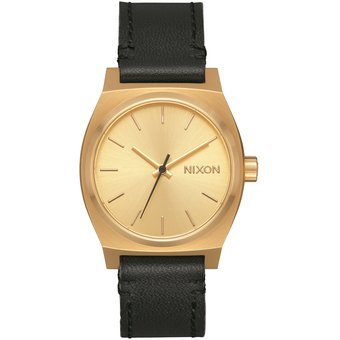 Reloj Medium Time Teller Leather Gold Black Nixon