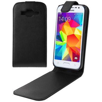 120ac1f8e96 Vertical Flip Magnetic Snap - Funda De Cuero Para Samsung Galaxy Core Prime  / G360 (
