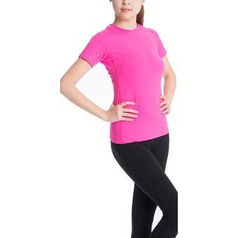 Compra Playera Deportivo Dry Fit Yoga y Gym YoFit Rosa Neon. online ... be3ff35bcc6b8