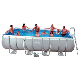 Compra piscina estructural intex 28351 549cmx247cmx132cm for Piscina estructural intex