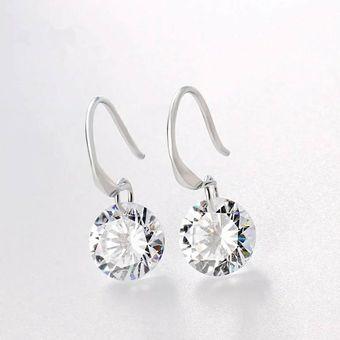 e6d534e7537c Compra Pendientes De Diamante único Plateado Plata online