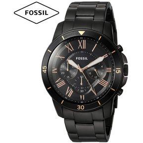 0354de91a811 Reloj Fossil Grant FS5374 Cronometro Acero Inoxidable - Negro