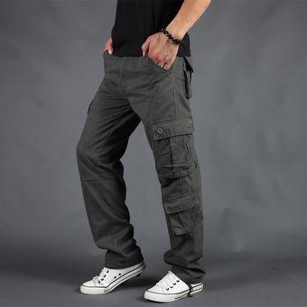 Pantalones Para Hombre Mono De Trabajo Militar De Combate De Carga Pantalones Largos Pantalones Holgados Informales De Algodon Con Multiples Bolsillos Pantalones Rectos Pantalones Tacticos Para Hombre Cui Grass Green Linio Peru
