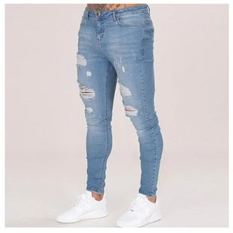Calida Pantalones De Mezclilla Con Agujeros Para Caballero Jeans Hombre Azul Claro Linio Mexico Ge598fa0zu8kdlmx