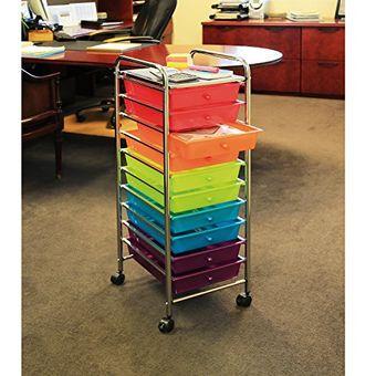 Organizador de 10 cajones Color Plateado Seville Classics tama/ño Grande