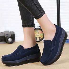 b831d076f84 Zapatos de Plataforma Genéricos Casuales para Mujer-Azul