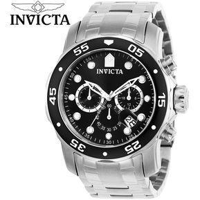 6805b241304d Reloj Invicta Pro Diver 0069 Cronometro Acero Inoxidable – Plateado Negro