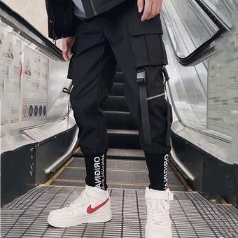 Streetwear Pantalones Cargo Hip Hop Casual Multi Bolsillos Harem Pantalones Hombre Joggers Pantalones Moda Para Hombres Ropa De Hombre Pantalones Hasta El Tobillo Harajuku Sport Casual Pantalones Holgados Para Correr Xyx