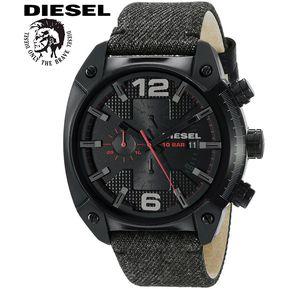 a0cc28450511 Reloj Diesel Overflow DZ4373 Cronometro Acero Inox Correa De Tela Y Cuero  Negro Gris