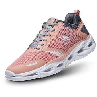 4a29fbf63dc Zapatos Deportivos Ligero Cómodo Correr para Mujer CAMEL CROWN-Rosado Gris