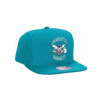 0a551531bd7a5 MITCHELL   NESS - Gorra Hombre MITCHELL   NESS NBA Charlotte Hornets  Snapback - Turquesa