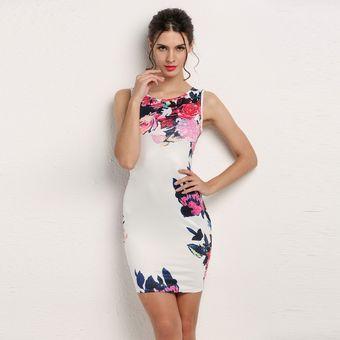 a0e17ef2c Compra Mini Vestido De Cóctel Estampado Floral Bodycon Estilo ...
