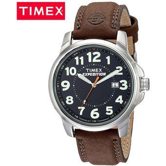 talla 40 d3629 573f4 Reloj Timex Expedition 40 T44921 Fecha Luz de Fondo Correa de Cuero - Marrón