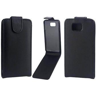 cc63bb0376a Vertical Flip Magnetic Snap - Funda De Cuero Para Samsung Galaxy Alpha /  G850f (negro