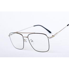 e939b9e689 Armazones para lentes Ópticos Rectangulares Plateados