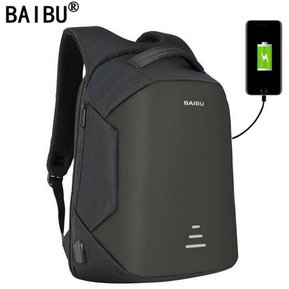 9d74385c8e7 Baibu 1913 Mochila Antirrobo Impermeable Laptop Notebook Usb Mac Negro