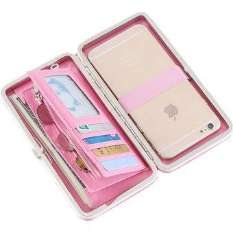 5b0834f2e Agotado Billetera Porta Celular Case Monedero Porta Tarjetas Cierre En  Broche Cartera Estuche Telefono Movil Femenina