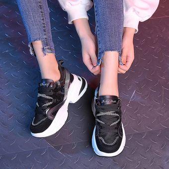 34ecf576b2b3 Zapatillas red de moda para mujer-Negro