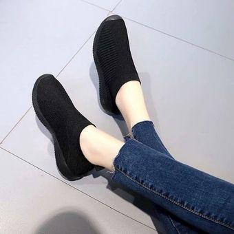 6dbc688d3c Compra Zapatos planos casuales de malla para mujer-Negro online ...