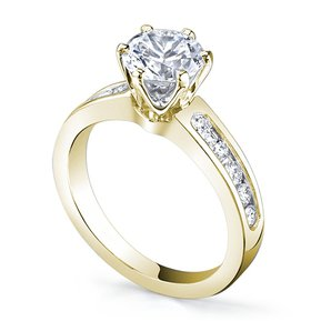 0660cc6354ec8 Anillo De Compromiso Con Laterales Fashion Boutique De México S-50 Con  Montadura De Oro Amarillo De 14Kt Y Diamante Central De .25ct