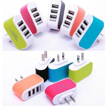 11d94d4a3f4 Cargador Universal USB Triple de Pared para iPhone, iPad, Samsung Galaxy,  LG,
