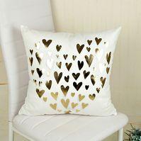 Fashion Bronzing Gold Printed Cushion Cover Sofá Asiento Pillow Case Tamaño: 45 * 45cm SU015HL1FI9DYLMX UuOMp2IR UuOMp2IR FfEi4XiM