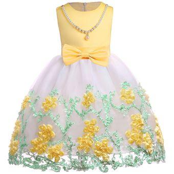491212ae31 2-9 años vestido de desfile de niña de flores Vestidos de fiesta para niños