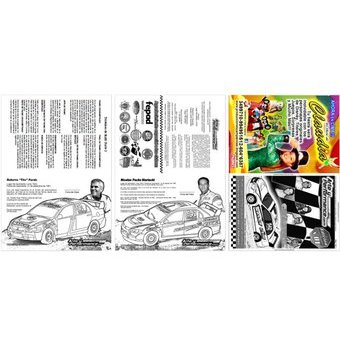 Compra Colors Kit 5 Libros Para Colorear Autos De Rally Racing