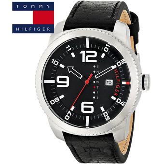590ad3566ba2 Reloj Tommy Hilfiger 1791014 Graham Correa De Cuero - Plateado Negro