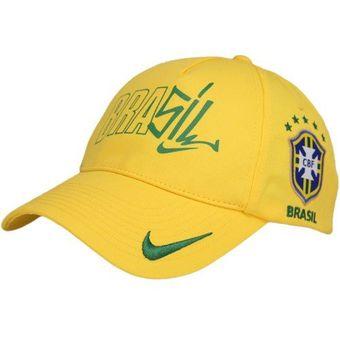 Compra Gorra Nike De La Seleccion De Brasil Amarilla 2018 online ... d45d24959be