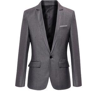 Juego Del Ocio Negocios Casual Blazers Para Hombres - Gris 81915b26895