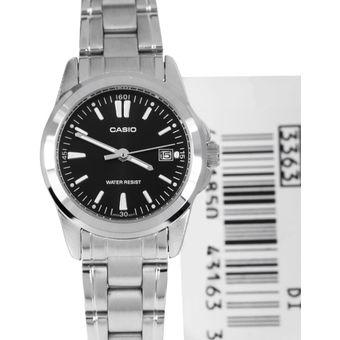 Compra Reloj Casio LTP 1215A 1A2 - Plateado fondo Negro Para Mujer ... 7e904a5e7cd8
