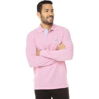 5e5decd487 Compra Camiseta Polovers Polo Manga Larga Slim Fit-Rosado Oxford ...