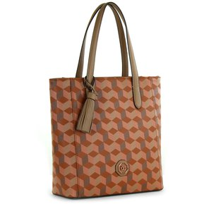 50780366f Bolso Cloe tote con estampado - naranja