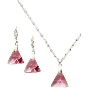 Conjunto Trinidad Cristal Swarovski® Ligth Rose Joyas Montero