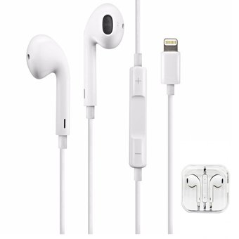51c33c136f6 Agotado Auricular Earpods Lightning Con Estuche Simil Iphone 7 8 Bluetooth
