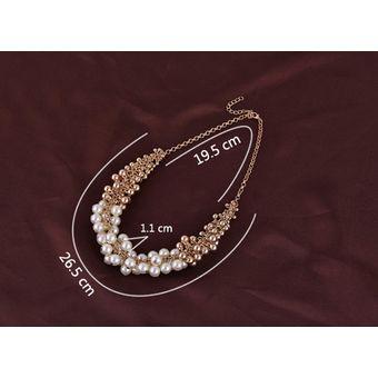 6cb67ecfb6c0 Compra Collar Harmonie Accesorios Esferas Multiples Perlas Dorado ...