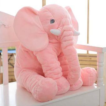 Almohada Suave De Bebé Para Dormir Con Bonito Peluche De Elefante-Rosa 29bd00c5de0