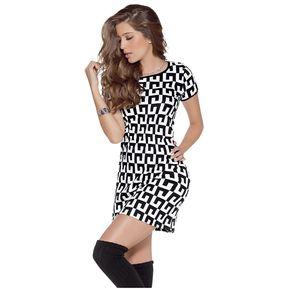 cc12b4ac234 Vestido Adulto Femenino Marketing Personal 52933 Negro