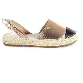 feff73ad Calzado Cloe flat punta en contraste suela en material tejido - bronce